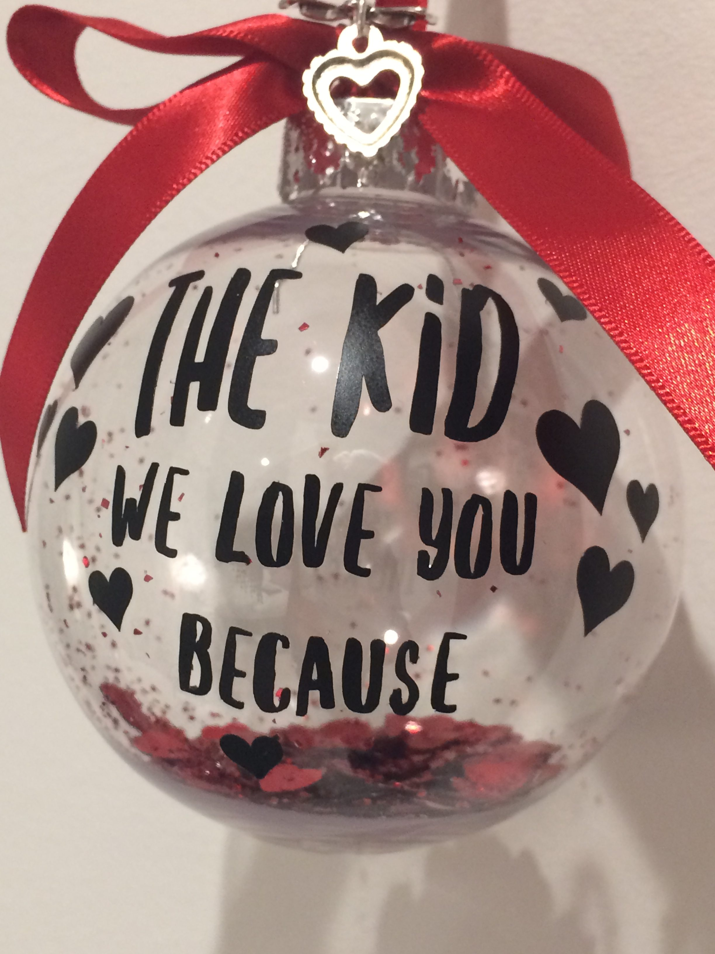 Personalised Valentine's Baubles