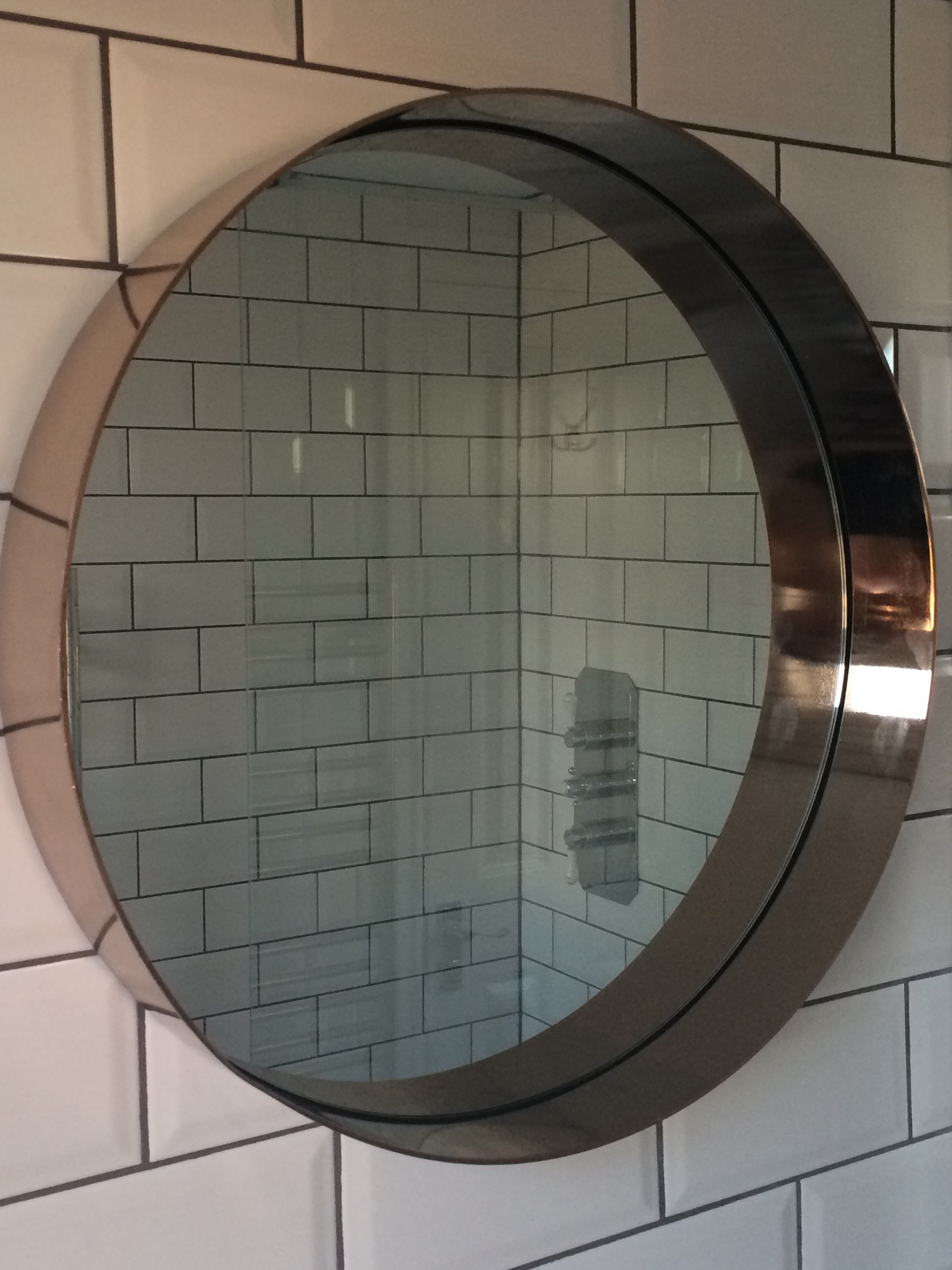 Alana Brushed Copper Mirror