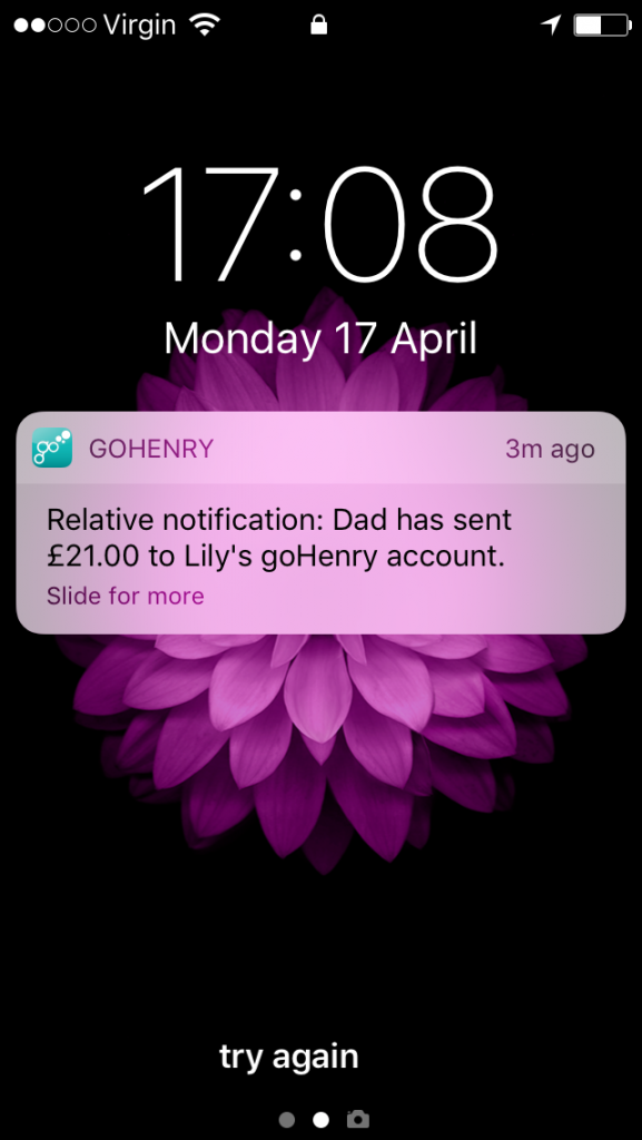 goHenry notification